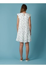 Indi & Cold V-neck Flare Dress White