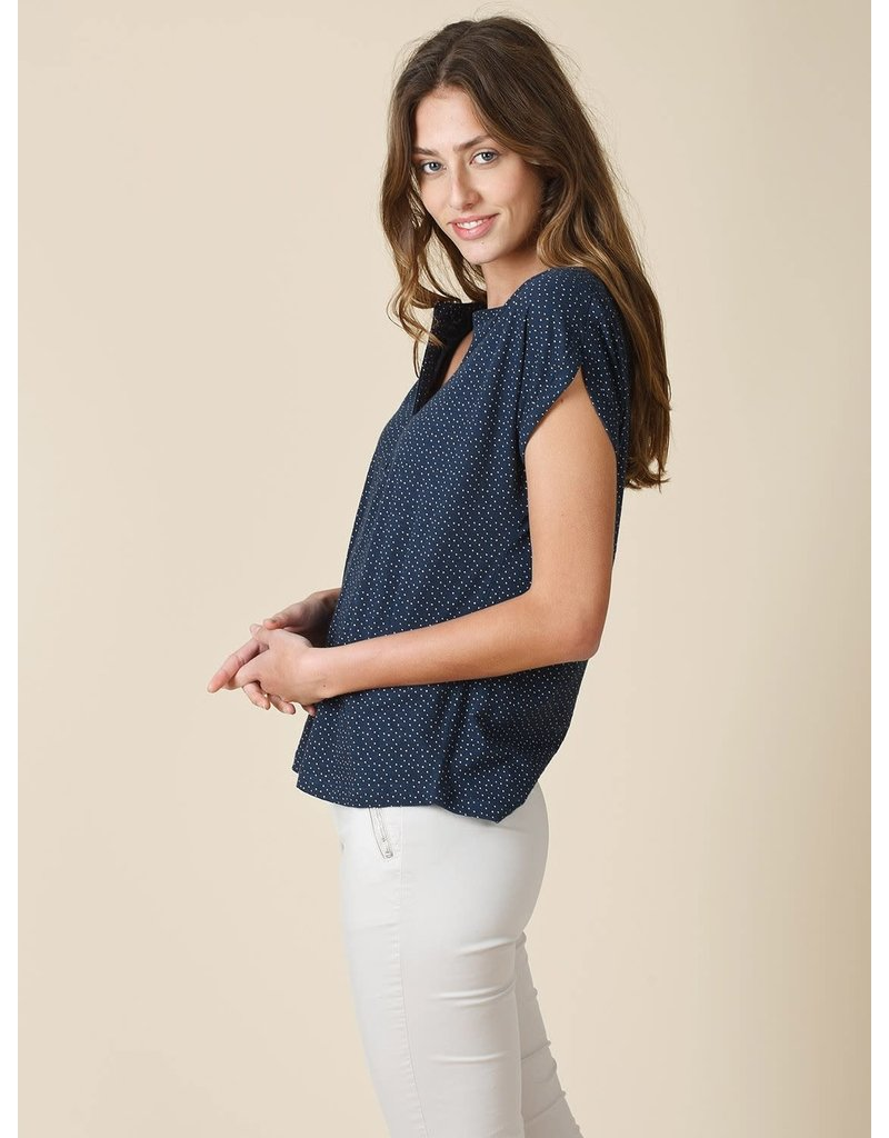 Indi & Cold Top Blue Dots
