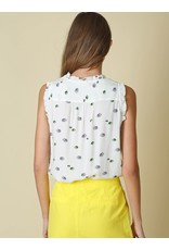 Indi & Cold Sleeveless Top White Print