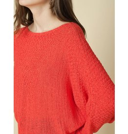 Indi & Cold Batwing Sweater Coral