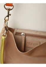 Indi & Cold Leather Purse Tan
