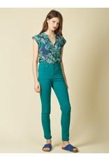 Indi & Cold Blouse Green Print