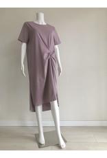 Uchuu Midi Ruched Dress Lilac