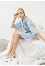 Nu Parcc Belted Strap Dress Blue Print