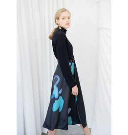 Nu Parcc Printed Wrap Skirt Blue