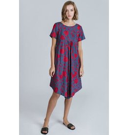 Allison Wonderland Sicily Midi Red Floral Dress