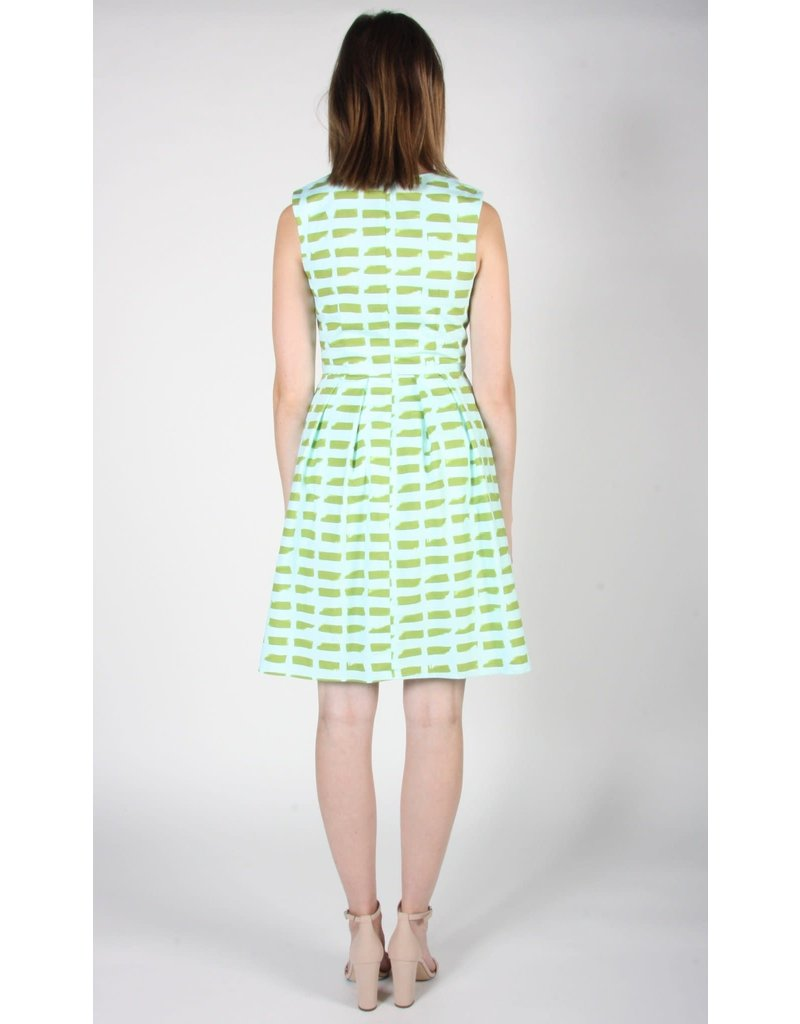 Birds of North America Oceanite Sleeveless Dress Green