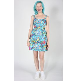Birds of North America Akikiki Halter Dress Blue Print