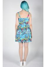 Birds of North America Akikiki Halter Dress Blue Print