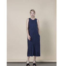 Jennifer Glasgow Baltic Midi Navy Dress