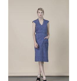 Jennifer Glasgow Hillier Wrap Vneck Violet Dress