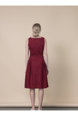 Jennifer Glasgow Rio Grande Pleated Crimson Dress