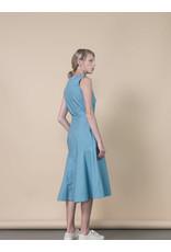 Jennifer Glasgow Source Midi Flare Blue Dress