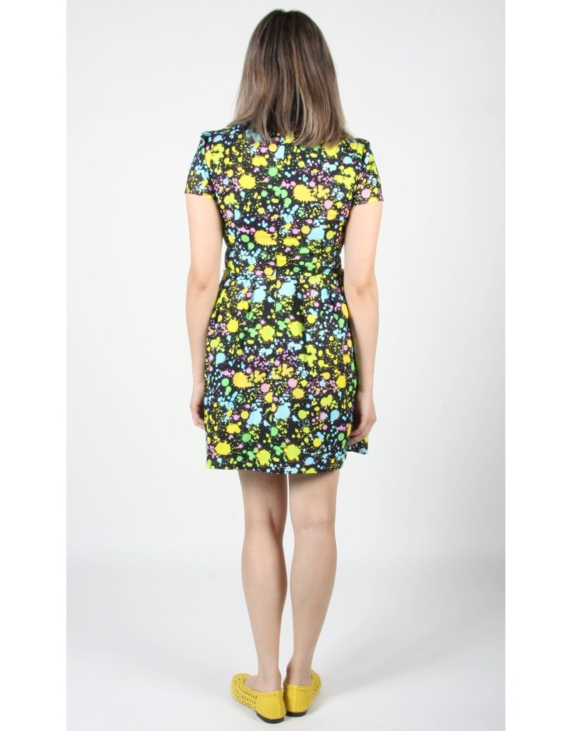 Birds of North America Engoulevent Flare Neon Dress