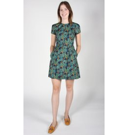 Birds of North America Engoulevent Flare Green Dress