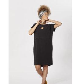 Cokluch Golden Glow Cutout Black Dress