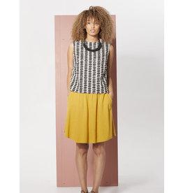 Cokluch Adenium Mini Flare Mustard Skirt