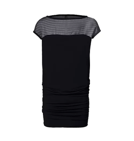 Melow Yama Shift Tapered Black Dress