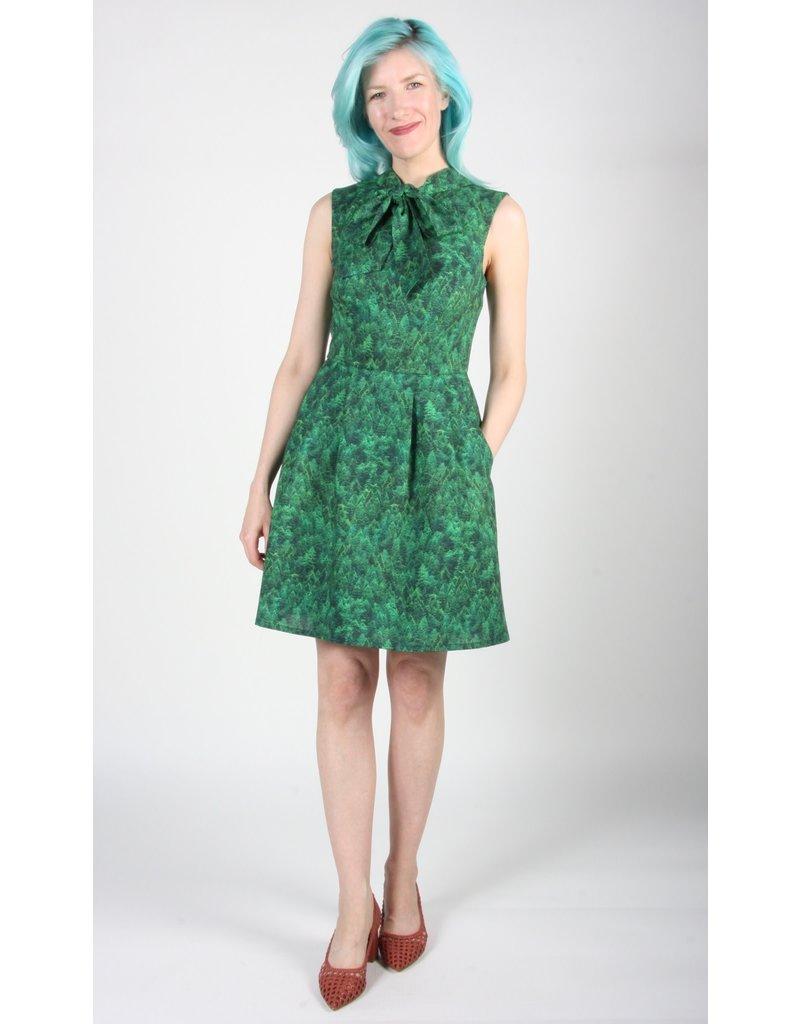 Birds of North America Redpoll Dress Evergreen