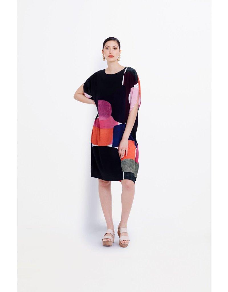 Elk Cirkel Shift Dress Block Print