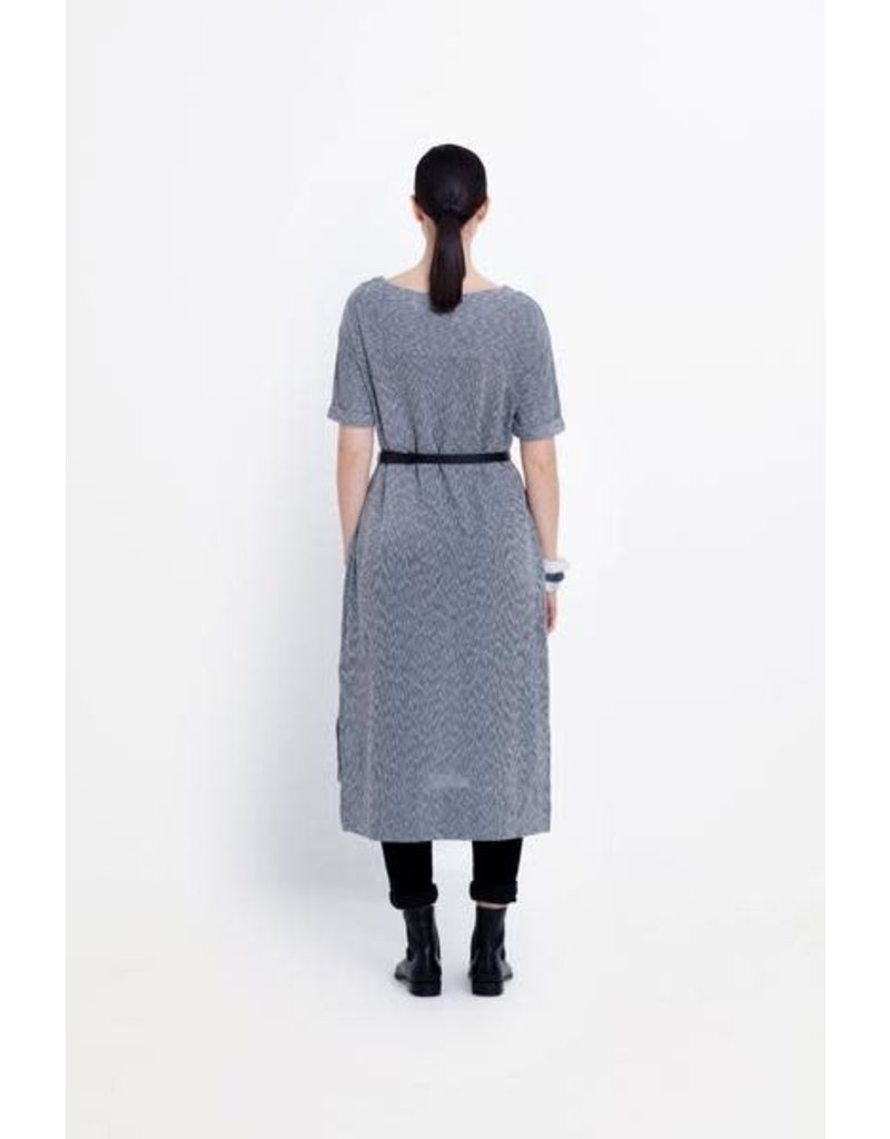 Elk Senja Shift Dress Deep Sea Stripe