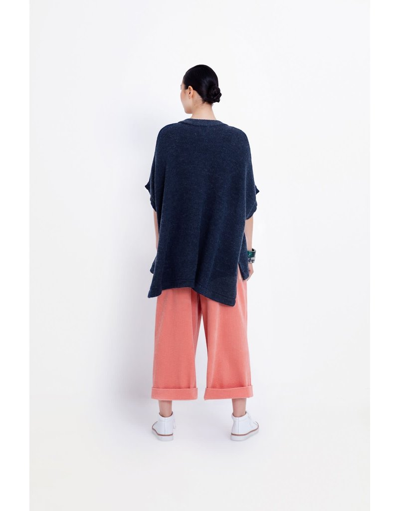 Elk Parla Poncho Deep Sea Stripe