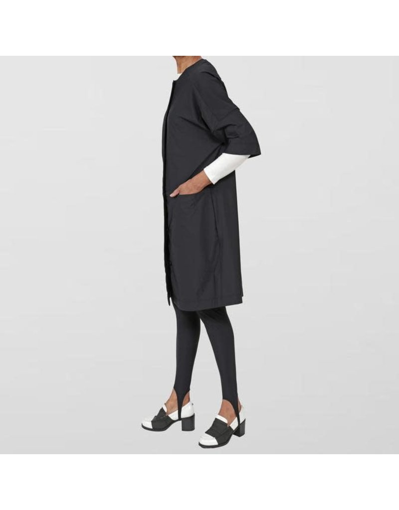 Ayrtight Index Palmer Shift Dress with Buttons Black