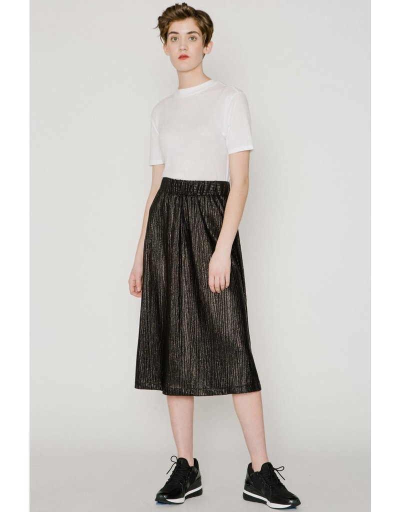 Allison Wonderland Captain Midi Skirt Black