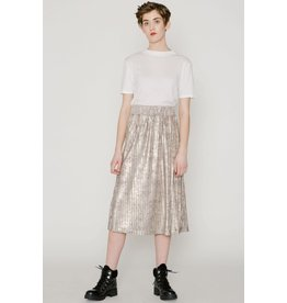Allison Wonderland Captain Midi Skirt Silver