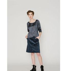 Allison Wonderland Crosby Aline Skirt Navy