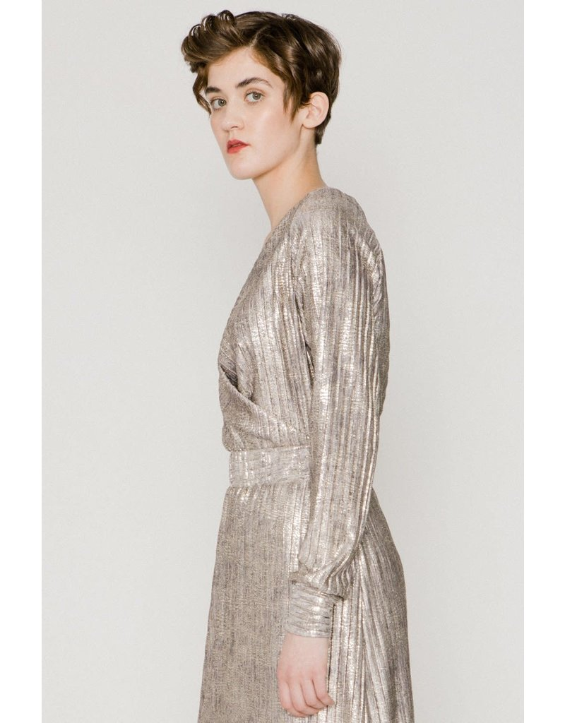 Allison Wonderland Tenille Wrap Blouse Silver