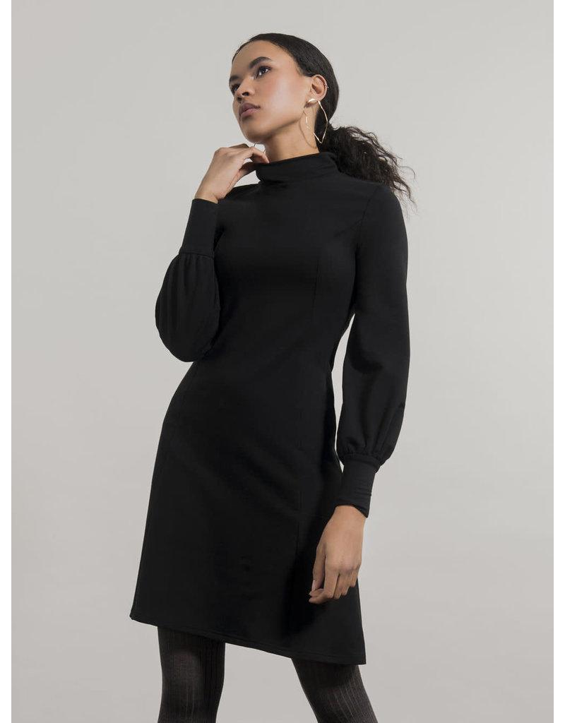 Jennifer Glasgow Ishtar Skater Aline Dress Black
