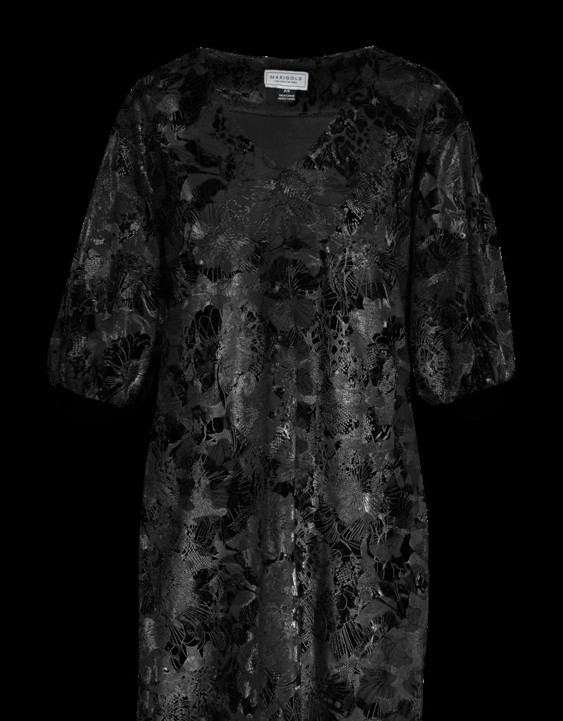 Marigold Brigitte Vneck Dress Black