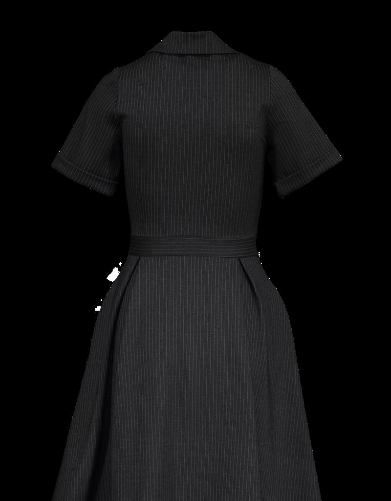 Marigold Mila Fit Flare Dress Black Stripe