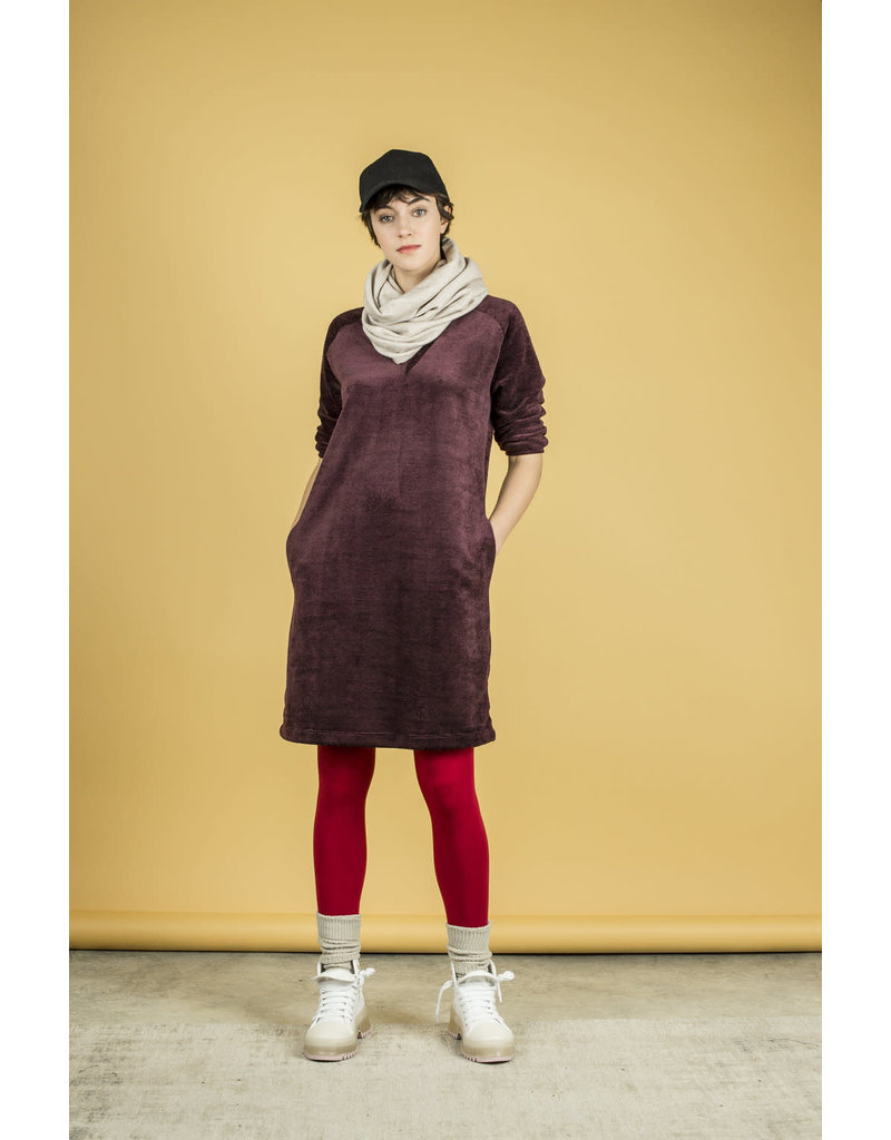 Bodybag Monroe Vneck Dress Burgundy