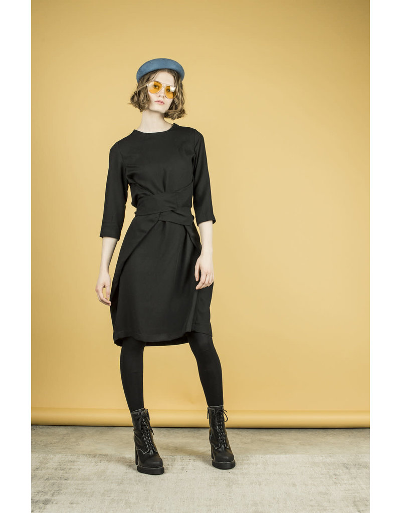 Bodybag Sullivan Dress with Ties Black