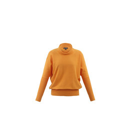 Marble Turtleneck Sweater Orange