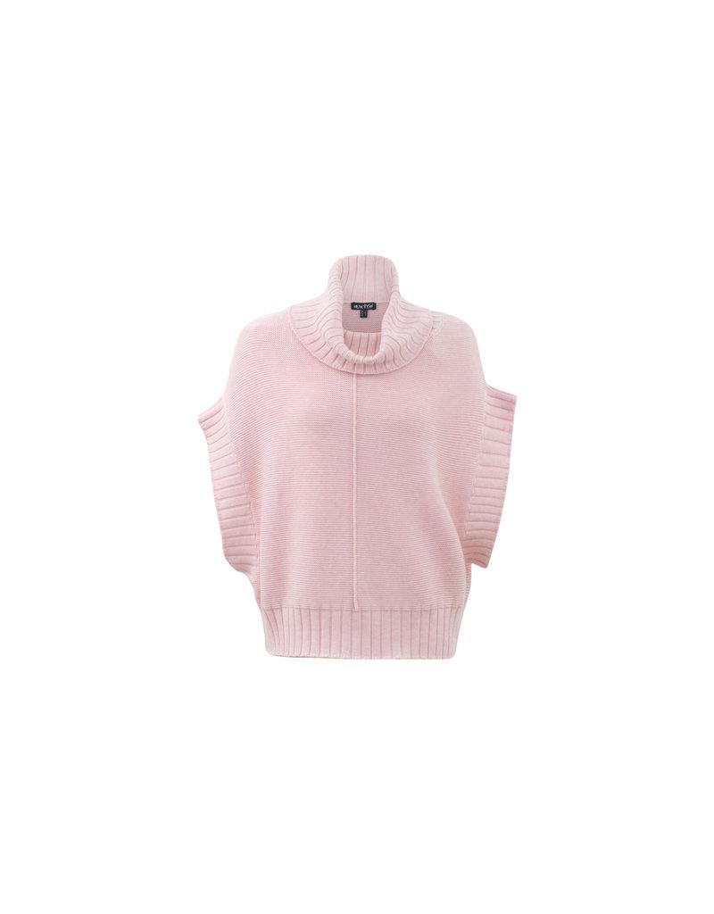 Marble Shortsleeve Sweater Pink