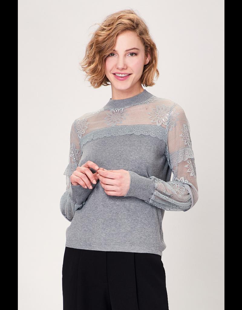 AngelEye Orla Sweater Lace Grey