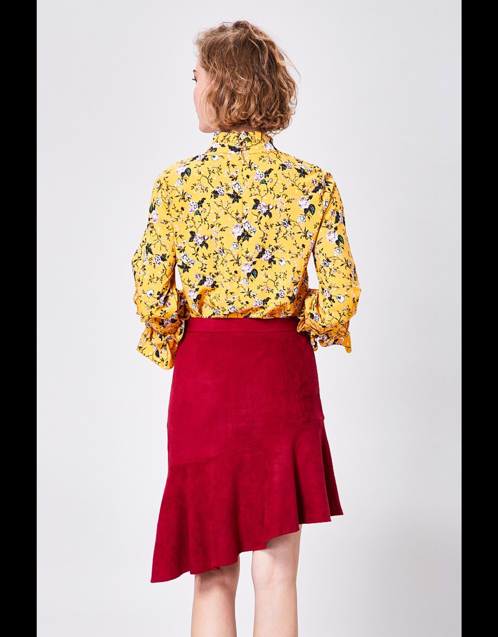 AngelEye Rebecca Mini Skirt Burgundy