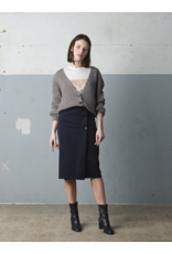 Indi & Cold Button Cardigan Cement