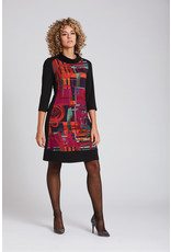 Luc Fontaine Barbeau Mockneck Tunic Red Print