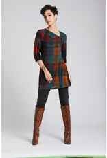 Luc Fontaine Irlande Asymmetric Tunic Green/Red