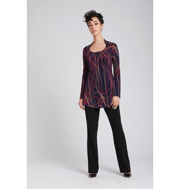 Luc Fontaine Alegria Round Neck Tunic Red Print