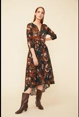 Louizon Siyama High Low Dress Beige Print