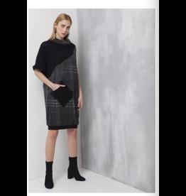 Ozainku Gourmet Midi Shift Dress Black