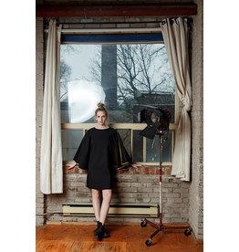 Sara Duke Paul Shift Dress Black