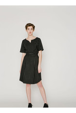 Allison Wonderland  Ashford Pleated Skirt Black Stripe