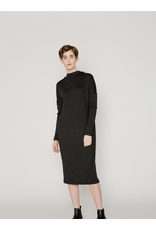Allison Wonderland Sade Midi Dress Black