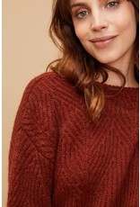 Louizon Plum Crew Neck Sweater Rust